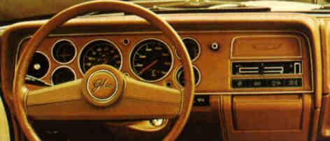 Ford Capri Mk II Ghia - wnętrze