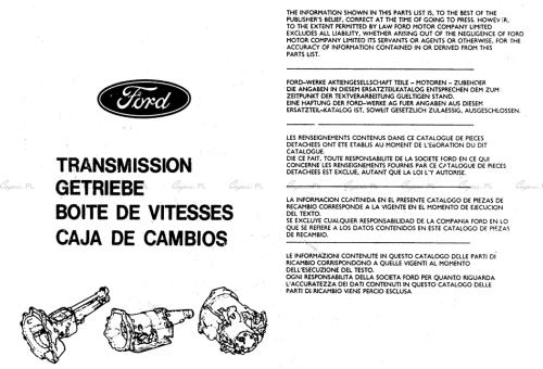 Katalog części - skrzynie biegów
