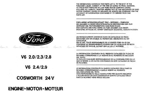 Katalog części - Silniki V6